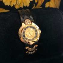 Versace Yellow gold Quartz Gold (solid) Arabic numerals 26mm pre-owned