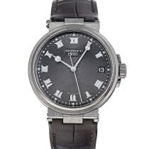 Breguet Titanium Automatic Grey Roman numerals 40mm pre-owned Marine