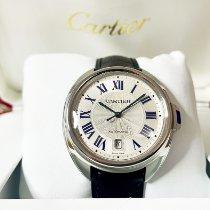Cartier Clé de Cartier Stahl 40mm Silber Römisch