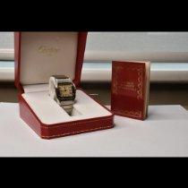 Cartier Santos Galbée gebraucht 29mm Weiß Datum Stahl