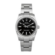 Rolex Oyster Perpetual 34 pre-owned 34mm Black Fold clasp