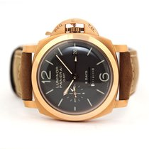 Panerai Luminor 1950 8 Days GMT Rose gold 44mm Brown Arabic numerals United States of America, Florida, Aventura