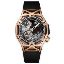 Hublot Techframe Ferrari Tourbillon Chronograph Oro rosa Negro