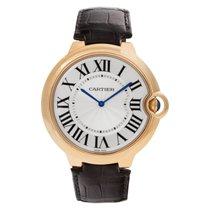Cartier Ballon Bleu 44mm подержанные 46mm Cеребро Кожа