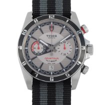 Tudor Grantour Chrono Fly-Back pre-owned 42mm Silver Chronograph Flyback Date Textile