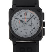 Bell & Ross Ceramic Automatic Silver 42mm new BR 03-94 Chronographe