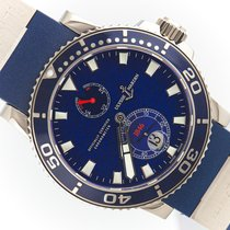 Ulysse Nardin White gold Automatic Blue No numerals 42.7mm pre-owned Maxi Marine Diver