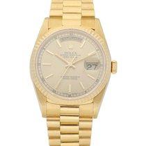 Rolex Day-Date 36 Oro amarillo 36mm Champán