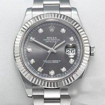 Rolex Datejust II Złoto/Stal 41mm Szary Bez cyfr