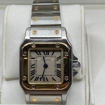 Cartier Santos Galbée gebraucht 24mm Weiß Gold/Stahl