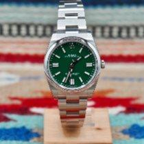 Rolex Oyster Perpetual Stahl 41mm Grün Keine Ziffern Schweiz, Genève (Delivery worldwide)