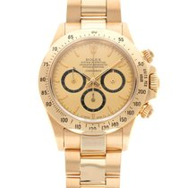 Rolex Yellow gold Automatic Champagne 40mm pre-owned Daytona