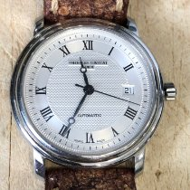 Frederique Constant Classics Automatic pre-owned 40mm Silver Panorama date Date Leather