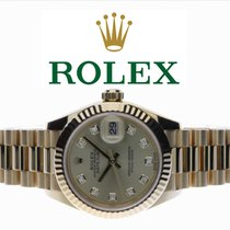 Rolex Lady-Datejust Yellow gold 28mm Champagne No numerals