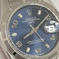 Rolex Oyster Perpetual Lady Date Aço 26mm Azul Sem números