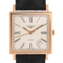 Longines Rose gold Automatic Silver 25mm pre-owned Heritage