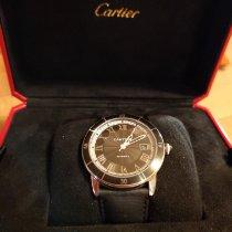 Cartier Ronde Croisière de Cartier gebraucht Grau Datum Leder