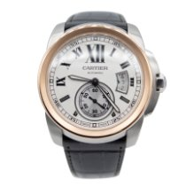 Cartier Calibre de Cartier Gold/Steel 42mm Silver Roman numerals United States of America, New York, New York