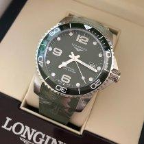Longines HydroConquest Steel 41mm Green Arabic numerals