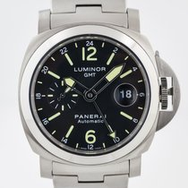 Panerai Luminor GMT Automatic Steel 44mm Black Arabic numerals