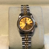 Rolex Oyster Perpetual 26 Acero y oro Champán Sin cifras
