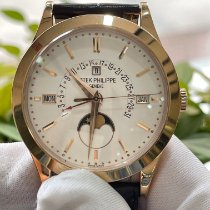 Patek Philippe Rose gold Automatic White No numerals 39.5mm pre-owned Perpetual Calendar