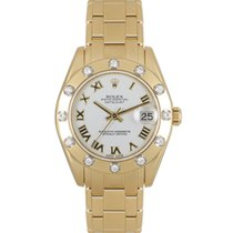 Rolex Pearlmaster Yellow gold 34mm White Roman numerals United Kingdom, London