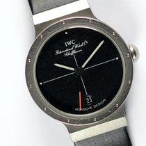 IWC Damenuhr Porsche Design 25mm Quarz gebraucht Uhr mit Original-Papieren 1988