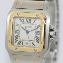 Cartier Santos Galbée Золото/Cталь 29mm Cеребро Римские