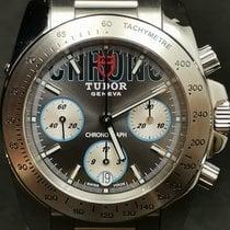 Tudor Sport Chronograph Stahl 41mm Grau Keine Ziffern