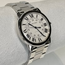 Cartier Ronde Croisière de Cartier Steel 36mm Silver Roman numerals United States of America, New York, NY