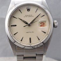 Rolex Oyster Precision Steel 34mm Yellow No numerals