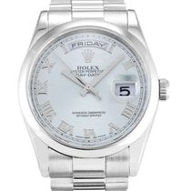 Rolex Platinum Automatic Blue 36mm new Day-Date 36
