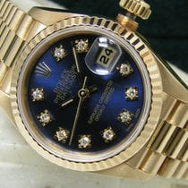 Rolex Yellow gold Automatic Blue No numerals 26mm pre-owned Lady-Datejust