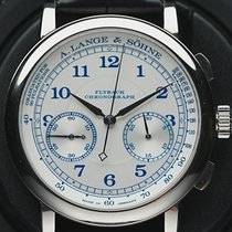 A. Lange & Söhne 1815 pre-owned 39.5mm Silver Chronograph Flyback Crocodile skin
