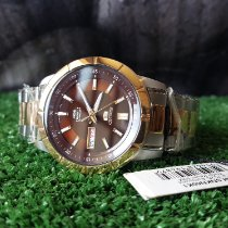 Seiko 5 Steel 43mm Brown No numerals Indonesia, Bandung