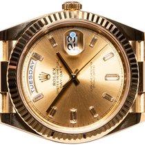 Rolex Day-Date 40 gebraucht 40,00mm Gold Datum Wochentagsanzeige Gelbgold