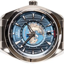 Omega Seamaster Aqua Terra Acero 43,00mm Azul Sin cifras