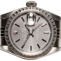 Rolex Oyster Perpetual Lady Date Steel 26,00mm Silver No numerals