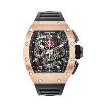 Richard Mille new Automatic 50mm Rose gold Sapphire crystal