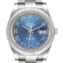 Rolex Datejust II Сталь 41mm Синий Римские