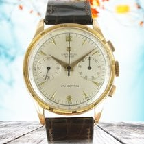 Universal Genève Red gold Manual winding Silver No numerals 37.5mm pre-owned Compax