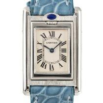 Cartier Damenuhr Tank (submodel) 25mm Quarz gebraucht Uhr mit Original-Box und Original-Papieren 1999