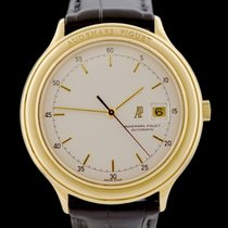 Audemars Piguet Huitième Żółte złoto 40mm Srebrny Bez cyfr