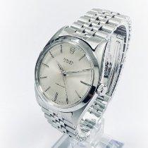 Rolex Oyster Precision Stahl 36mm Silber Keine Ziffern