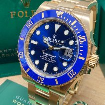 Rolex Yellow gold Automatic Blue No numerals 41mm new Submariner Date