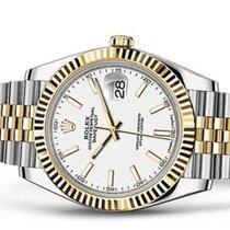 Rolex Datejust Золото/Cталь 41mm Белый Без цифр