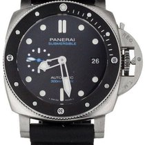 Panerai Luminor Submersible Stål 42mm Svart