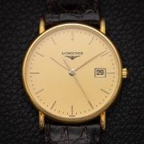 Longines Présence Yellow gold 33.5mm Gold No numerals