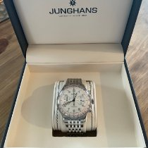 Junghans Meister Telemeter pre-owned 40.8mm Silver Chronograph Tachymeter Steel